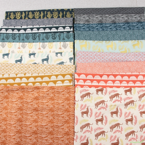 Amelie Mancini for Cotton + Steel, All Through The Land, Bricks Blossom