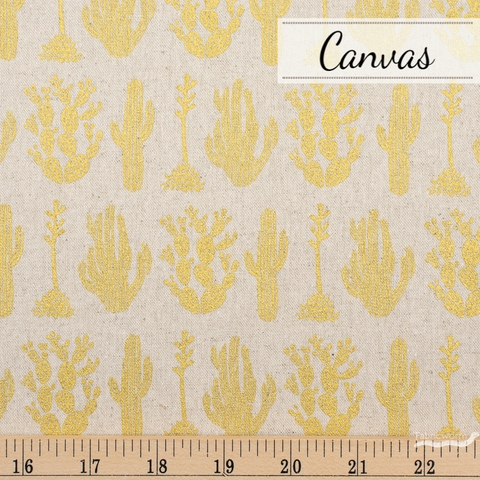 Amelie Mancini for Cotton + Steel, All Through The Land Canvas, Desert Twinkle Metallic