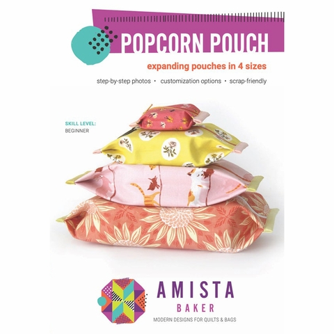 Amista Baker, Sewing Patterns, Popcorn Pouch