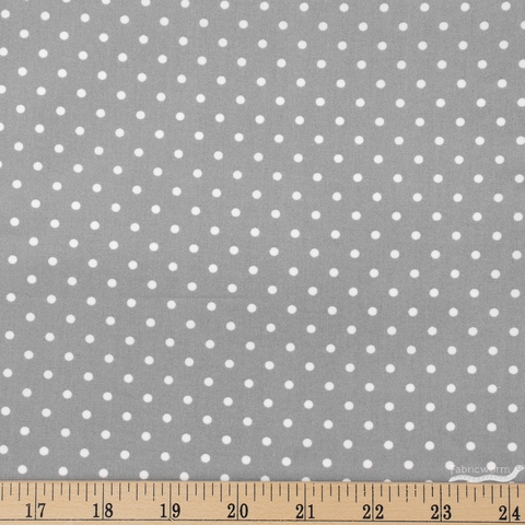 Amy Sinibaldi for Art Gallery, Les Petits, Petits Dots Ash Fat Quarter