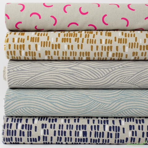Amy Van Luijk for FIGO, Surface CANVAS, Color in HALF YARDS 5 Total