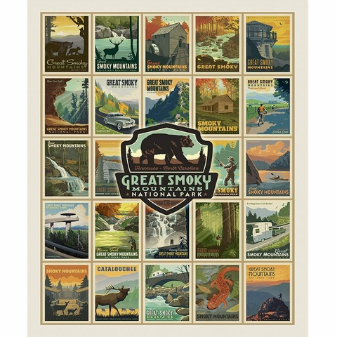 """Anderson Design Group for Riley Blake, Destinations, Great Smokey Mountains (36"""" Panel)"""