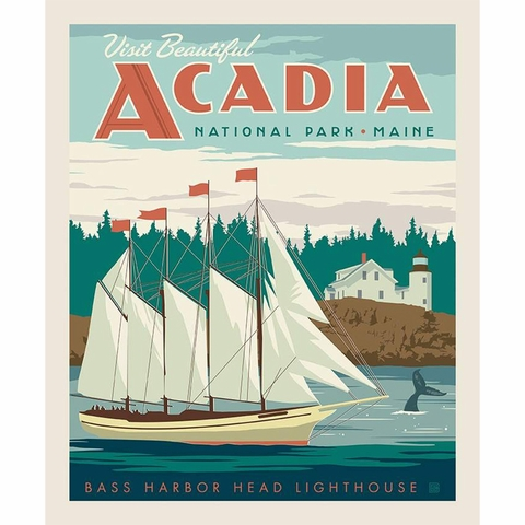 "Anderson Design Group for Riley Blake, National Parks, Acadia Panel (36"" Panel)"