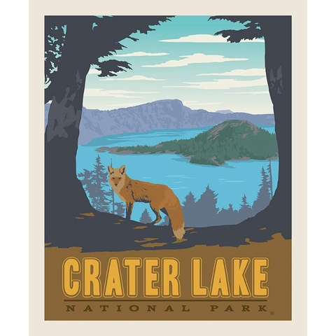 "Anderson Design Group for Riley Blake, National Parks, Crater Lake Panel (36"" Panel)"