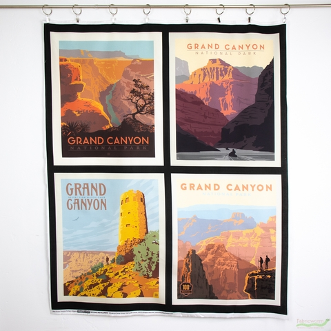 """Anderson Design Group for Riley Blake, National Parks, Grand Canyon Pillow Panel (36"""" Panel)"""
