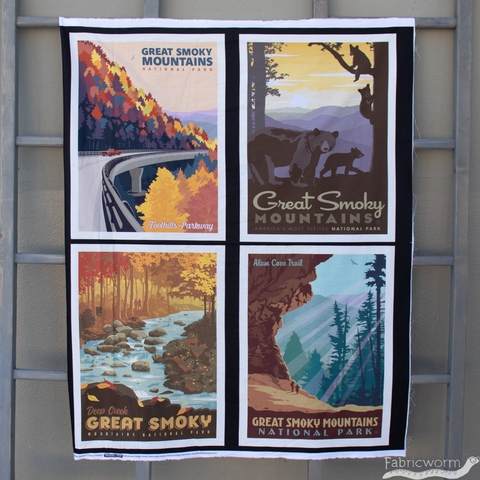 """Anderson Design Group for Riley Blake, National Parks, Great Smoky Mountains Pillow Panel (36"""" Panel)"""