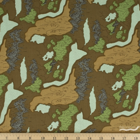 Anderson Design Group for Riley Blake, National Parks, Map Brown