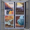 "Anderson Design Group for Riley Blake, National Parks Posters and Pillow (24"" and 36"" Panels) 5 Total"
