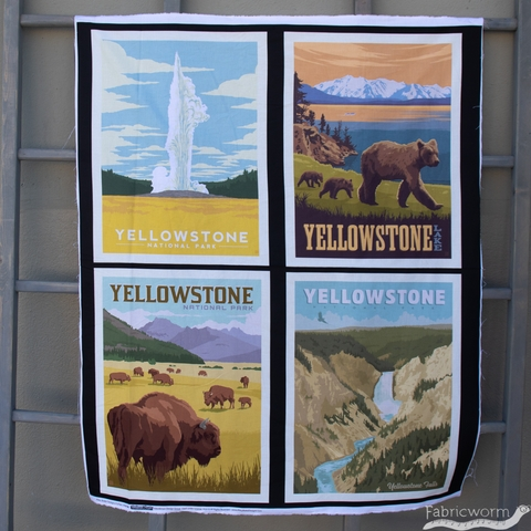 "Anderson Design Group for Riley Blake, National Parks, Yellowstone Pillow Panel (36"" Panel)"
