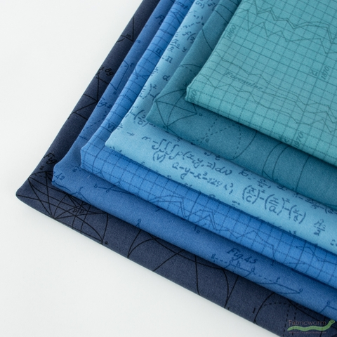 Andover, Color Theory, Deep End in FAT QUARTERS 6 Total (PRECUT)