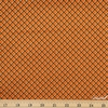 Andover Fabrics, Sleepy Hollow, Fence Grid Orange