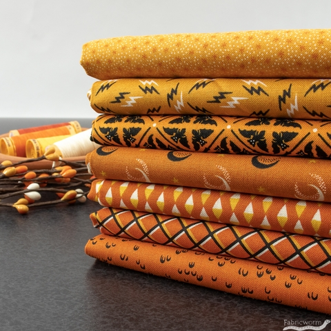 Andover Fabrics, Sleepy Hollow, Spooky Orange