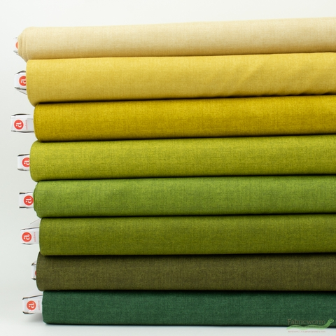 Andover, Laundry Basket Favorites Linen Texture, Greenery in HALF YARDS 8 Total