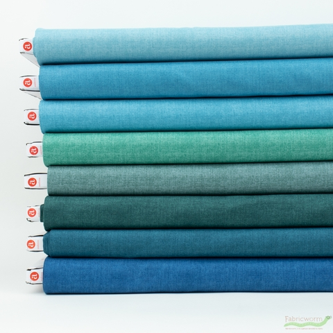 Andover, Laundry Basket Favorites Linen Texture, Sky in FAT QUARTERS 8 Total