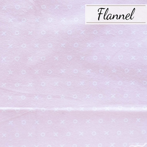Angela Nickeas for 3 Wishes, Don't Forget to Dream Flannel, Hugs and Kisses Pink