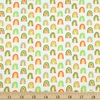 Ann Kelle for Robert Kaufman, Chili Smiles, Bright Rainbows Ivory
