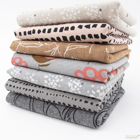 Anna Graham for Robert Kaufman, Driftless, Breeze in FAT QUARTERS 7 Total (PRECUT)