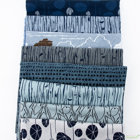 Anna Graham for Robert Kaufman, Driftless, Currents in HALF YARDS 8 Total