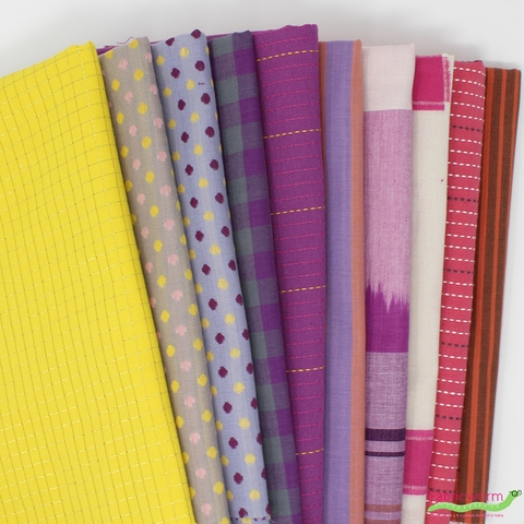 Anna Maria Horner, Loominous Yarn Dyes, Bright Wonder in FAT QUARTERS 8 Total(PRECUT)