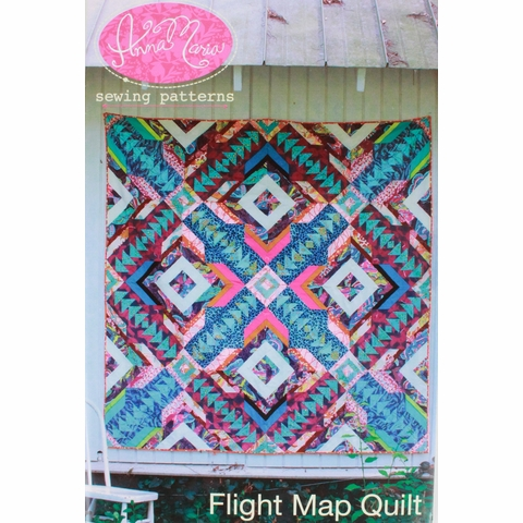 Anna Maria, Sewing Pattern, Flight Map Quilt