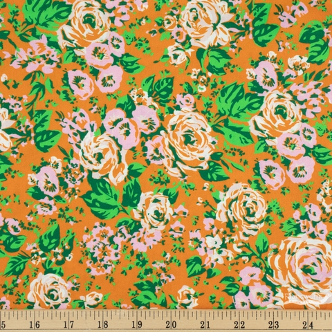 Annabel Wrigley for Windham, Posy, Bright Big Roses Rust
