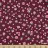 Annabel Wrigley for Windham, Posy, Little Roses Burgundy
