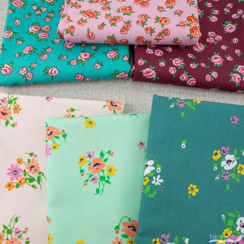 Annabel Wrigley for Windham, Posy, Little Roses Pink