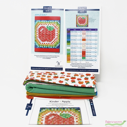 Apple Quilt Kit Featuring Kinder