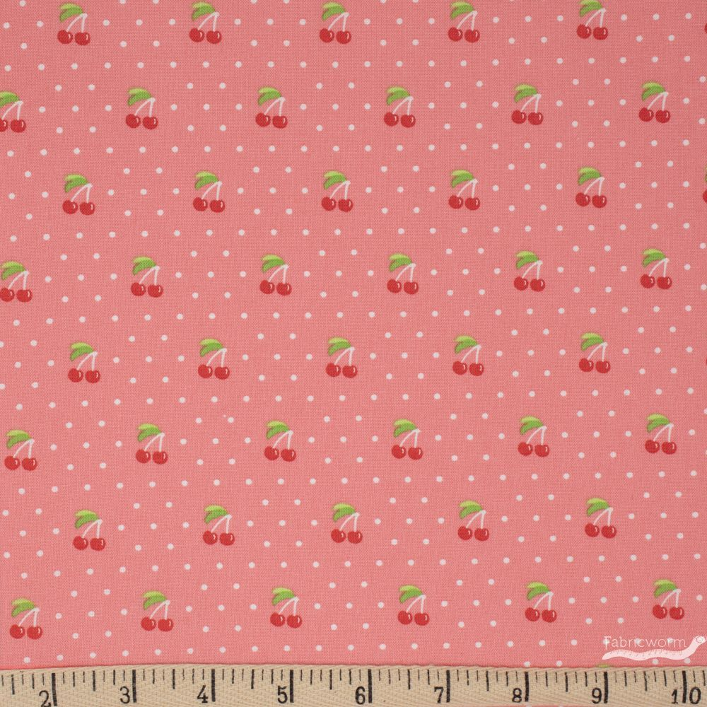 Orchard cherry pie cotton fabric by April Rosenthal for Moda Fabrics 24074 13