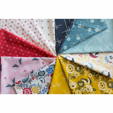 Arleen Hillyer for Birch Organic Fabrics, Merryweather 11 Total