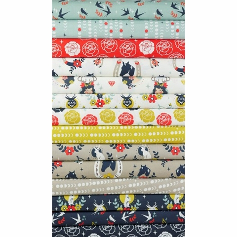 Arleen Hillyer for Birch Organic Fabrics, Tall Tales in FAT QUARTERS 13 Total