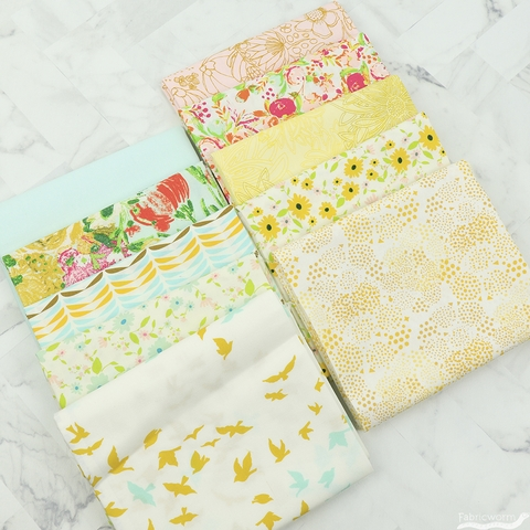 Art Gallery Fabrics, PRE-CUT Color Master, No. 16 Gentle Spring in FAT QUARTERS 10 Total