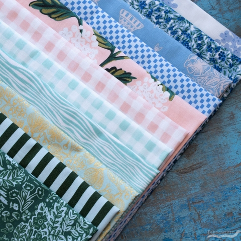 Assorted Rifle Paper Co. Custom Bundle, Happy Rabbit 11 Precut Fat Quarters