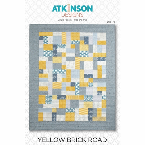 Atkinson Designs, Sewing Pattern, Yellow Brick Road Quilt