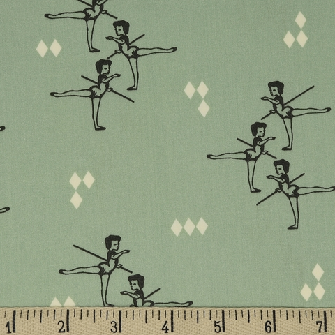 Arleen Hillyer for Birch Organic Fabrics, Pirouette, Arabesque Mint