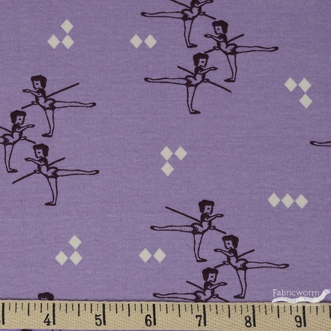 AVAILABLE FOR PREORDER, Arleen Hillyer for Birch Organic Fabrics, Pirouette, KNIT, Arabesque Lavender