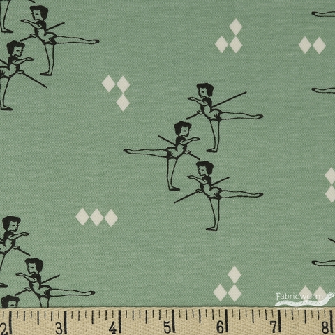 Arleen Hillyer for Birch Organic Fabrics, Pirouette, KNIT, Arabesque Mint