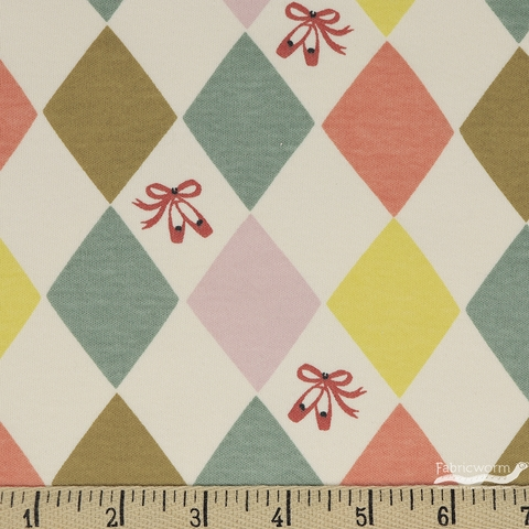 Arleen Hillyer for Birch Organic Fabrics, Pirouette, KNIT, Harlequinade