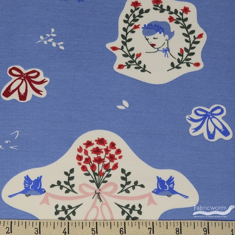 Arleen Hillyer for Birch Organic Fabrics, Pirouette, KNIT, Swanhilda