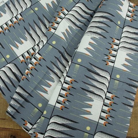 AVAILABLE FOR PREORDER, Charley Harper for Birch Organic Fabrics, BARKCLOTH, Skimmerscape