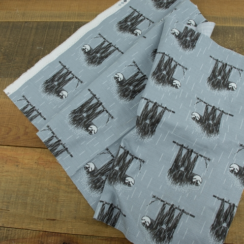 AVAILABLE FOR PREORDER, Charley Harper for Birch Organic Fabrics, BARKCLOTH, Sloth