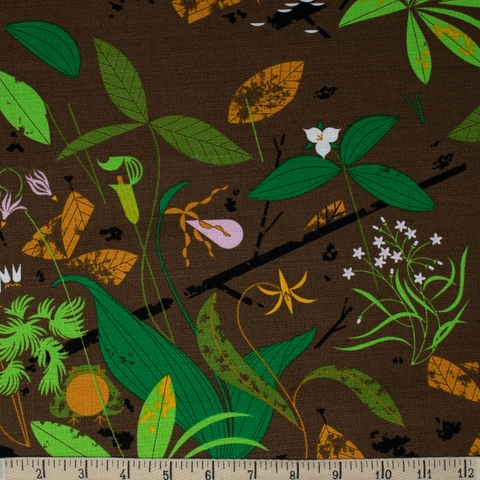 AVAILABLE FOR PREORDER, Charley Harper for Birch Organic Fabrics, BARKCLOTH, Spring Wildflowers
