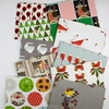 AVAILABLE FOR PREORDER, Charley Harper for Birch Organic Fabrics, Charley Harper Holiday in HALF YARDS 12 Total
