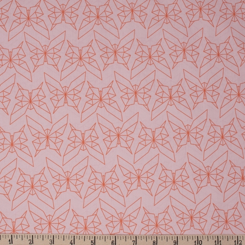 Jay-Cyn Designs for Birch Organic Fabrics, Geogami, Geo Butterfly Blush