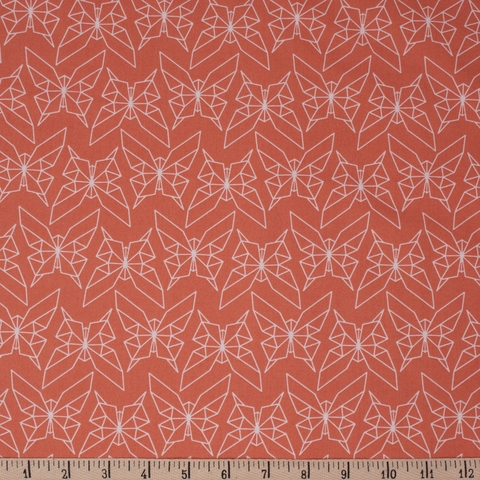 Jay-Cyn Designs for Birch Organic Fabrics, Geogami, Geo Butterfly Persimmon