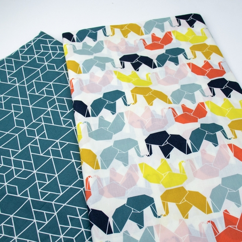Jay-Cyn Designs for Birch Organic Fabrics, Geogami, Geo Elle Multi