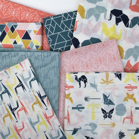 AVAILABLE FOR PREORDER, Jay-Cyn Designs for Birch Organic Fabrics, Geogami, Geo Giraffe Mineral
