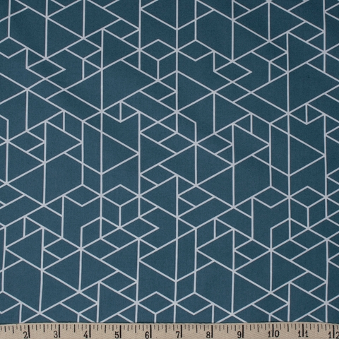 AVAILABLE FOR PREORDER, Jay-Cyn Designs for Birch Organic Fabrics, Geogami, Geo Path Teal