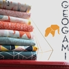 AVAILABLE FOR PREORDER, Jay-Cyn Designs for Birch Organic Fabrics, Geogami in FAT QUARTERS 8 Total