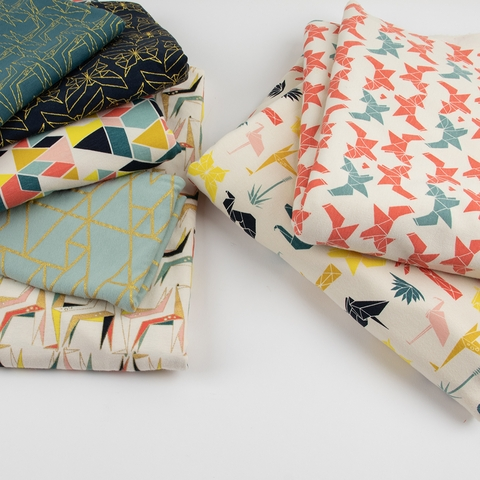 AVAILABLE FOR PREORDER, Jay-Cyn Designs for Birch Organic Fabrics, Geogami, KNIT, Geo Fox
